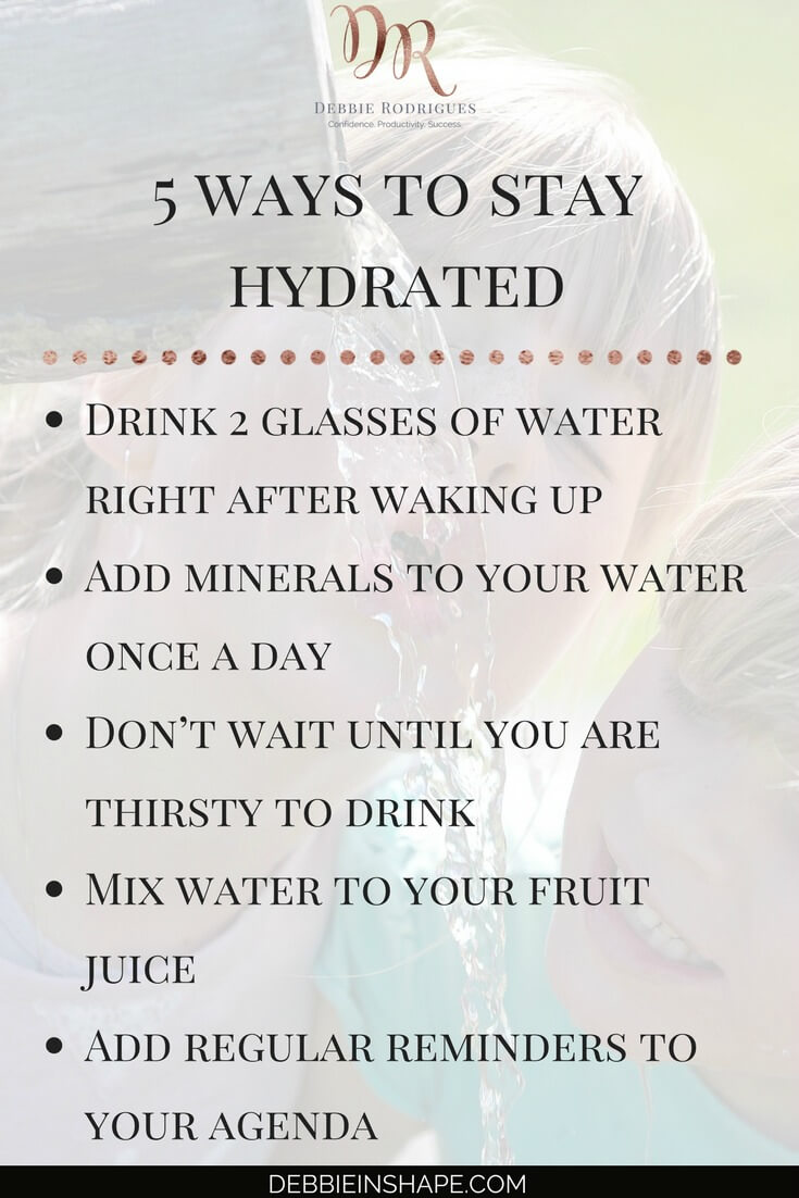 Find out how to stay hydrated in 5 super easy ways. Improve your health and wellness one day at a time without stress. Learn how to create space in your schedule for yourself with Mindful Planning. Read all about it on the blog. #productivity #confidence #success #health #lifestyle