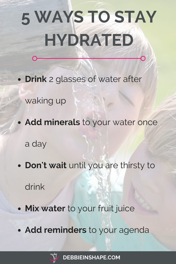 Find out how to stay hydrated in 5 super easy ways. Read more on the blog!