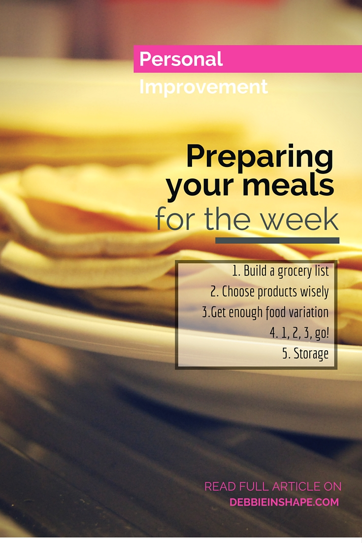 Preparing Your Meals For The Week.