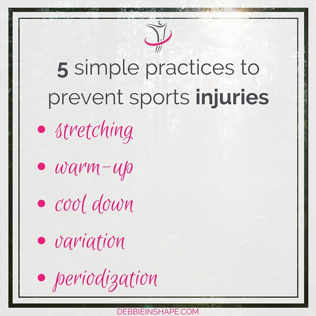 5 simple practices to prevent sports injuries.
