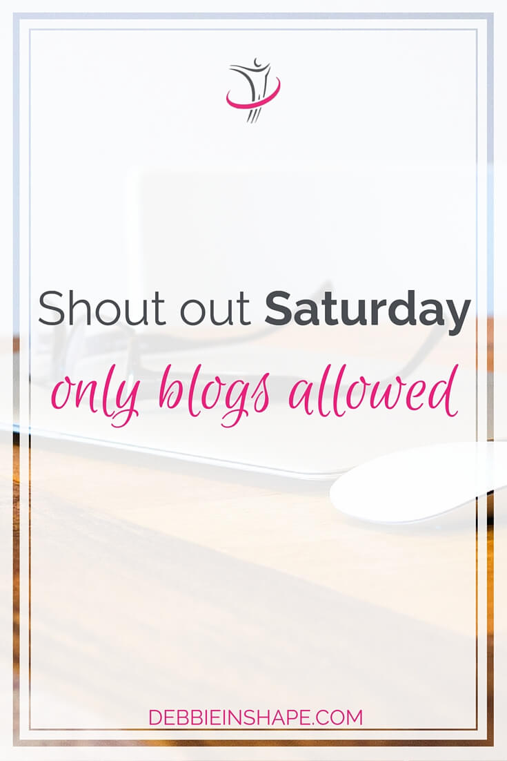 Shout Out Saturday Only Blogs Allowed.