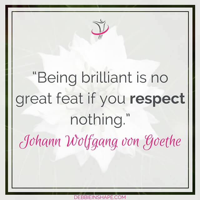 """Being brilliant is no great feat if you respect nothing."" – Johann Wolfgang von Goethe"