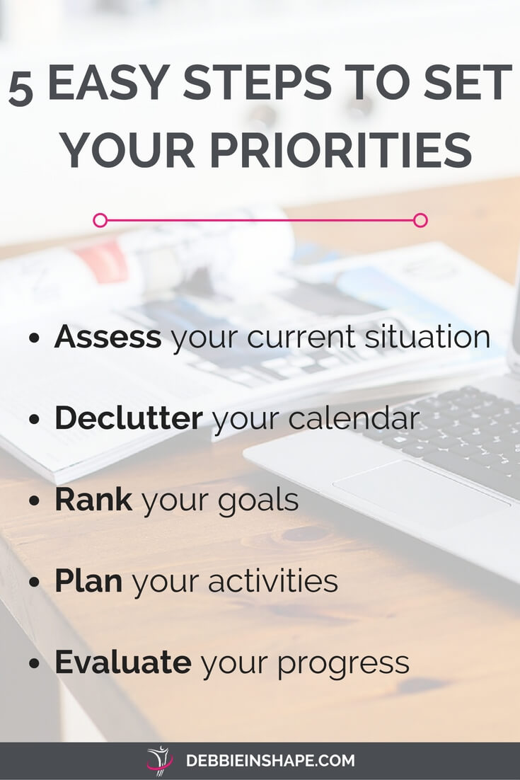 Setting your priorities the right way is the start a productive lifestyle, stress-free. Make it simple with these 5 steps. Success!