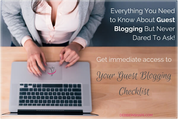 Get immediate access to your guest blogging checklist.