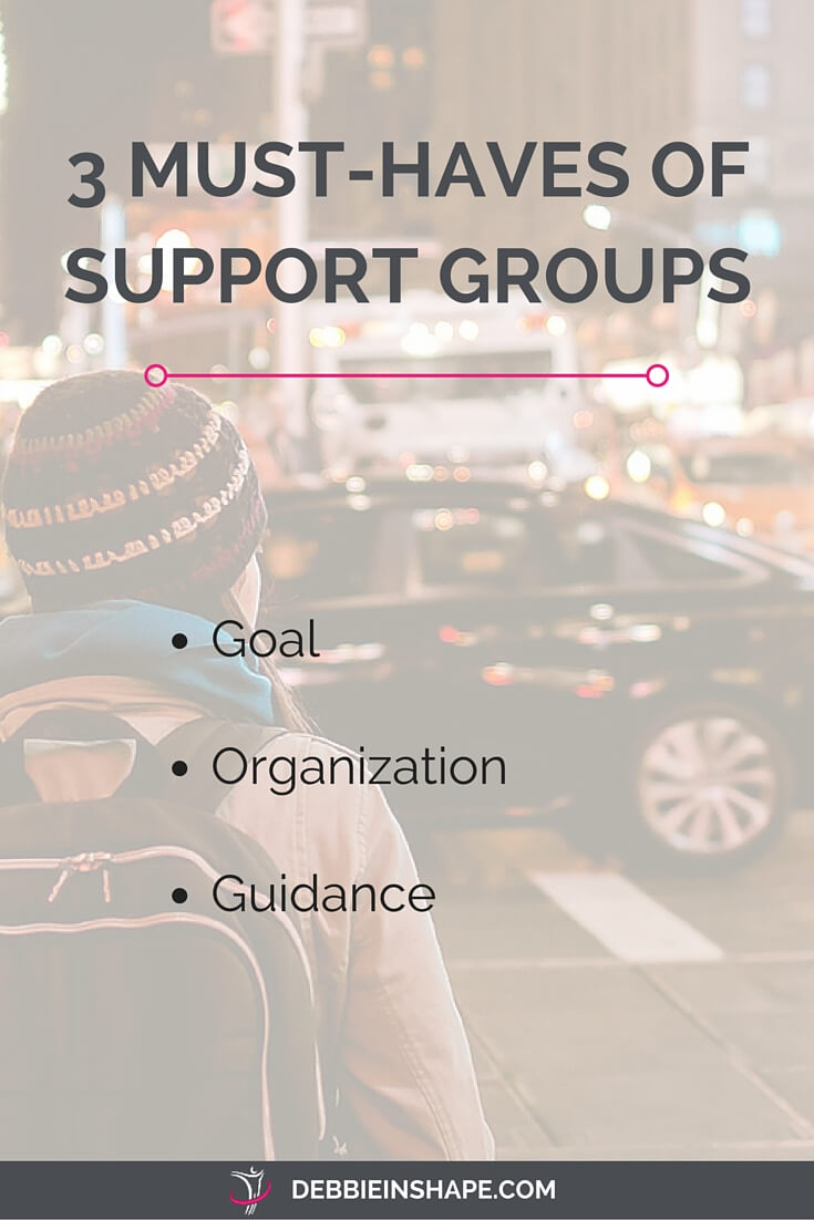 The 3 must-haves of successful support groups.