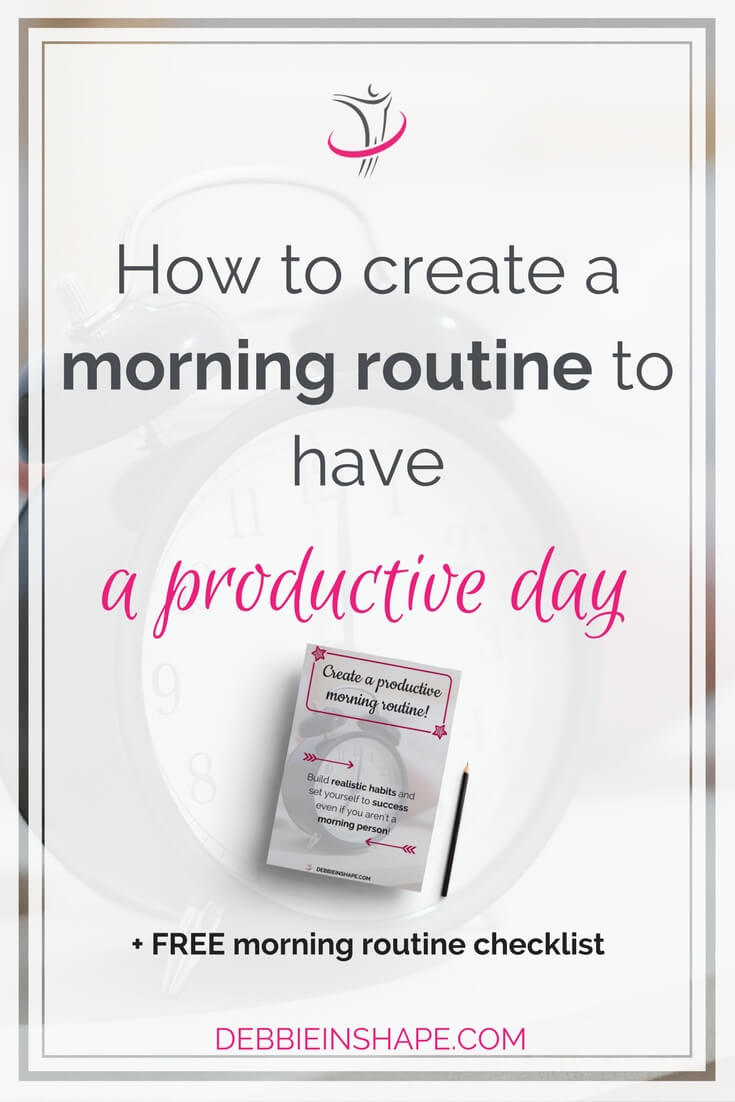 You don't have to be a morning person to create a productive morning routine. Set yourself to success with these 3 tips.
