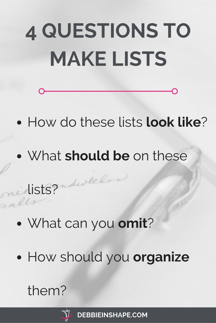 Understand how to make lists that will help you become more productive with these 4 questions.