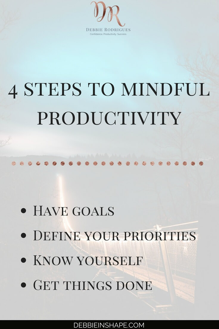 Stop being mindless with these 4 steps and become more productive today. Join the 52-Week Challenge For A More Productive You and receive all the support and motivation you need to be successful. Overcome not-so-obvious productivity killers one day at a time with Mindful Planning. #productivity #confidence #success #journaling #mindfulness