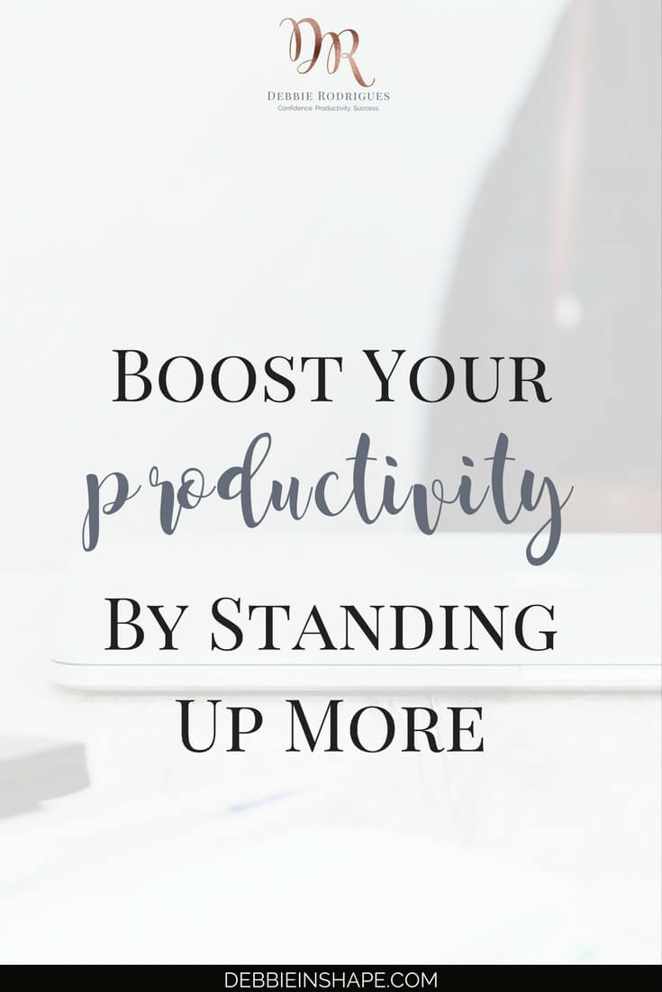 Standing up more is beneficial to productivity. Discover why and how you can adhere to it without spending money with fancy workstations. To stay on track and motivated, come on over to the 52-Week Challenge For A More Productive You. Learn about other not-so-obvious efficiency killers and how to defeat them one day at a time without stress. #productivity #confidence #success #health #lifestyle