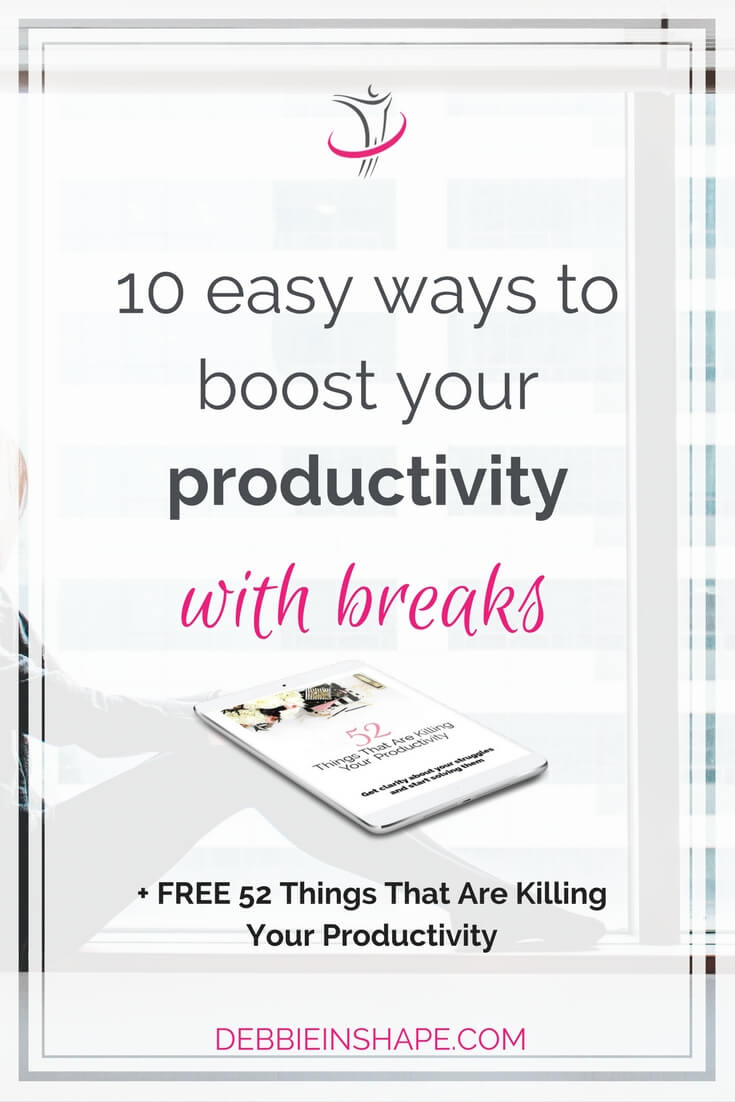 Boost your productivity with breaks the easy way. Check these 10 options and start to get more out of your days without the overwhelm.