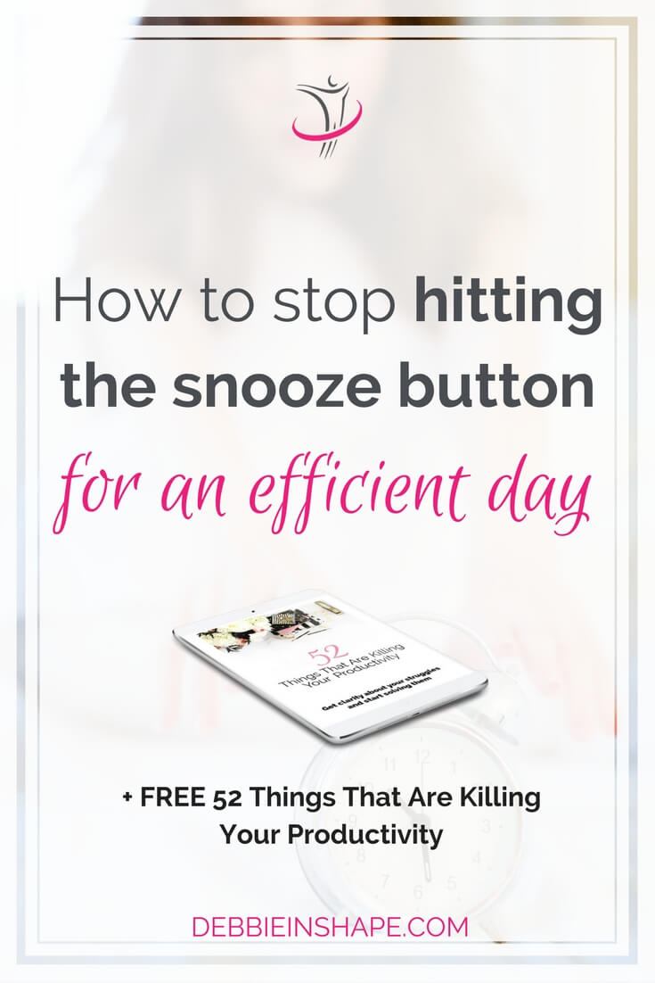 Stop hitting the snooze button with these 5 ways and start boosting your productivity without feeling overwhelmed.