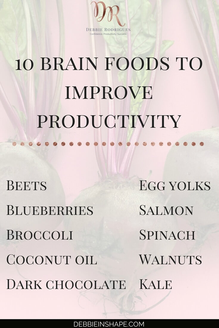 Find out what you need to eat to be more efficient. Because you don't have to go on a strict diet to feel better and have more energy. Learn everything you need to know about the role of nutrition in your productivity by joining the 52-Week Challenge For A More Productive You today. #productivity #confidence #success #diet #health