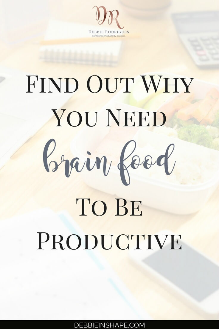 Brain food is the fuel your body needs to be productive. Discover how to get the most out of your meals for focus and efficiency. Come to the 52-Week Challenge For A More Productive You today and get all the guidance and support you need to overcome procrastination and achieve your goals. #productivity #confidence #success #diet #health
