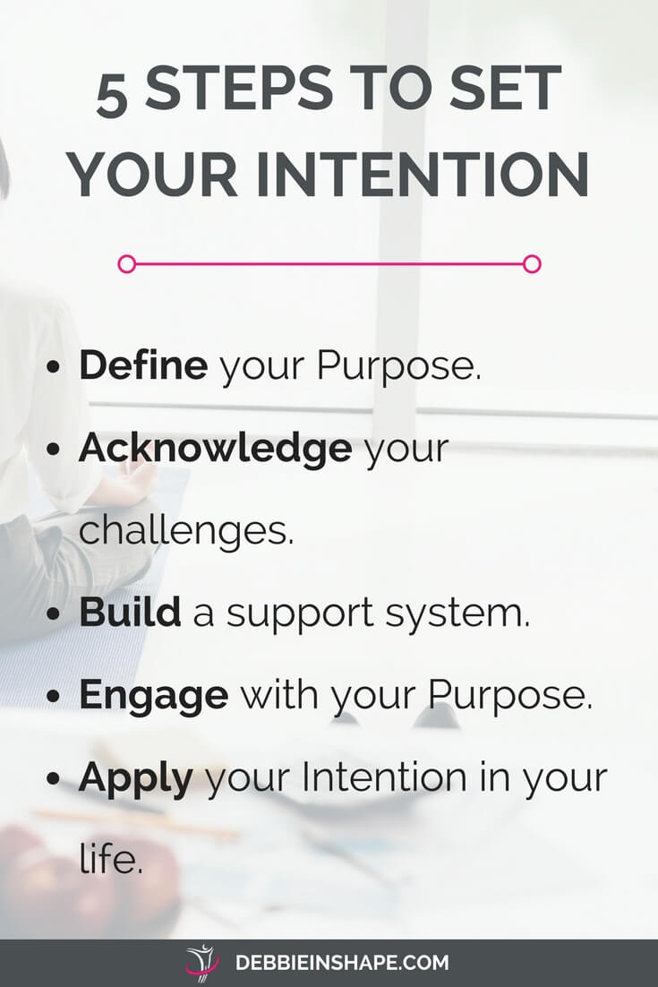 Learn how to set your intention in 5 steps. Read more on the blog and join the challenge today!