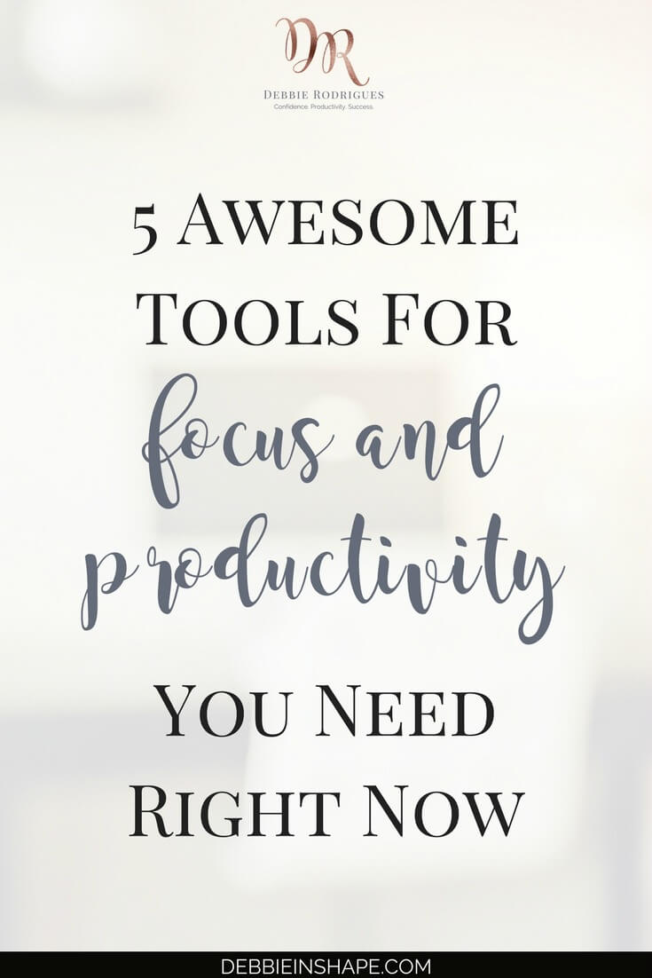 5 awesome tools for focus and productivity I can't live without. Make sure you check them out. I'm sure you'll love them too. Learn all about them on the blog! Join my FREE VIP Tribe and become a member of a community of like-minded achiever for accountability and support. #productivity #confidence #success #journaling #focus