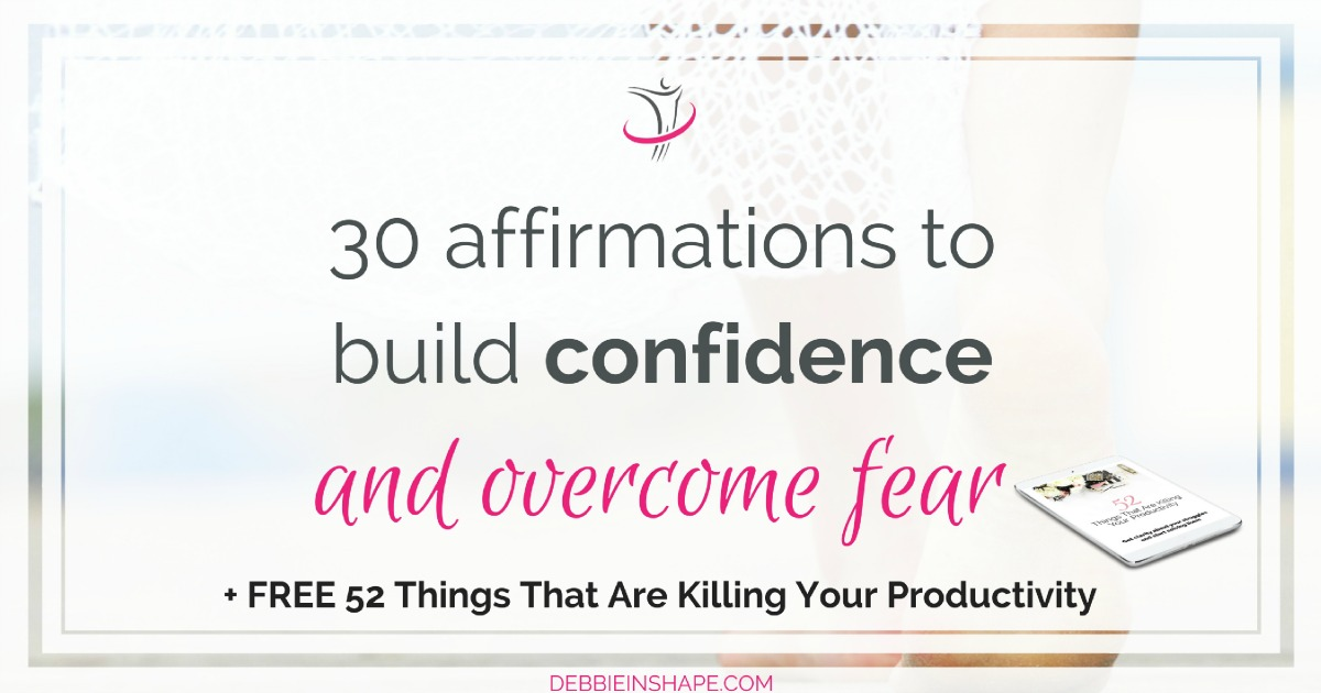 Affirmations to build confidence are an effective way to overcome fear. Check this list and start changing your mindset. Read more on the blog!