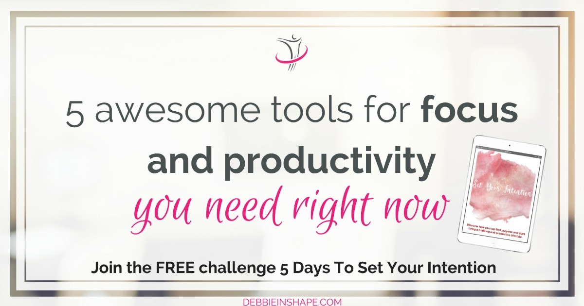 5 awesome tools for focus and productivity I can't live without. Make sure you check them out. I'm sure you'll love them too. Discover them on the blog!