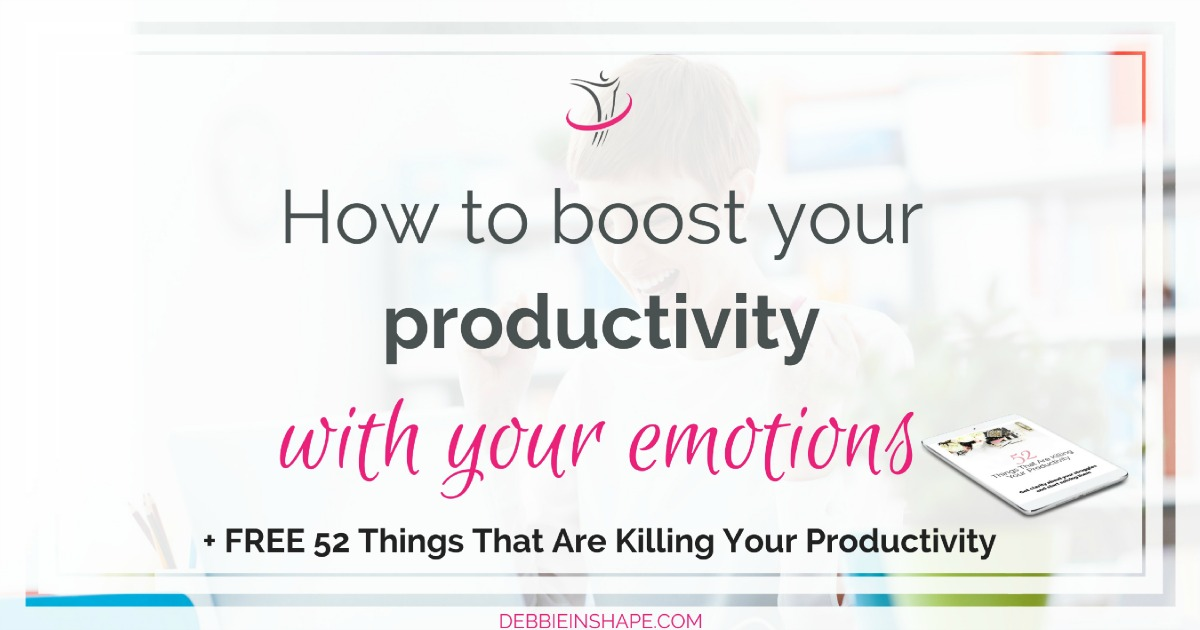 Expressing one's feelings isn't always appreciated. However, you can boost your productivity with your emotions. Read all about it on the blog!