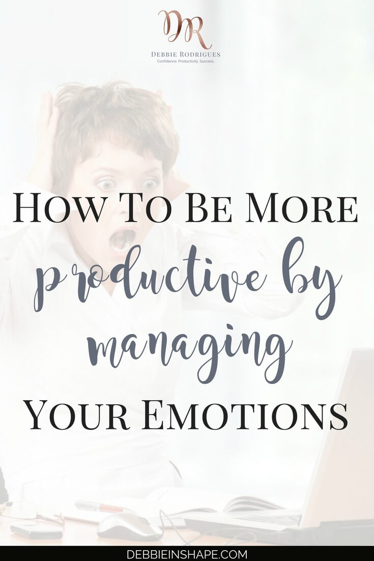 Managing your emotions is much more than holding them back or hiding your feelings. Discover all about their influence on your efficiency by reading the blog! #productivity #confidence #success #journaling #emotions