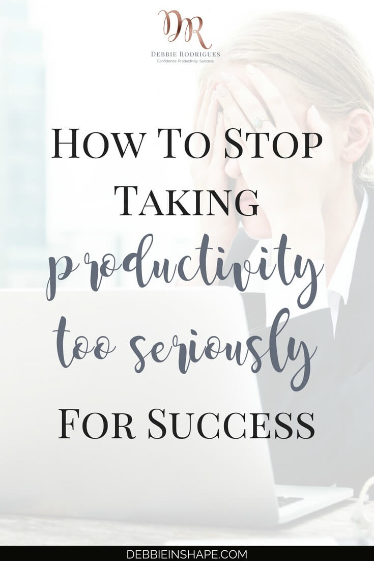 Are you taking productivity too seriously? Be careful not to get caught up in the hype and lose perspective of your goals. Join the 52-Week Challenge For A More Productive and get all the support you need to be successful without losing your soul. #productivity #confidence #success #journaling #mentalhealth