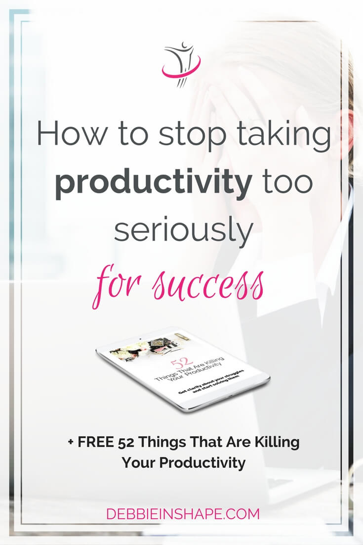 Are you taking productivity too seriously? Be careful not to get caught up in the hype and lose perspective of your goals. Discover all about it on the blog!