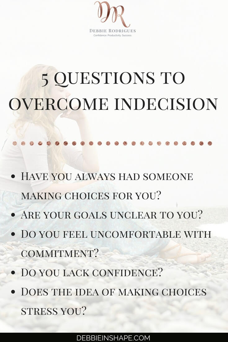 Learn how to know yourself to overcome indecision. Use these questions and other tips from the blog to become more productive today. Join the 52-Week Challenge For More Productive You and get all the support, accountability, and motivation you need to stay on track. #productivity #confidence #success #journaling #mentalhealth