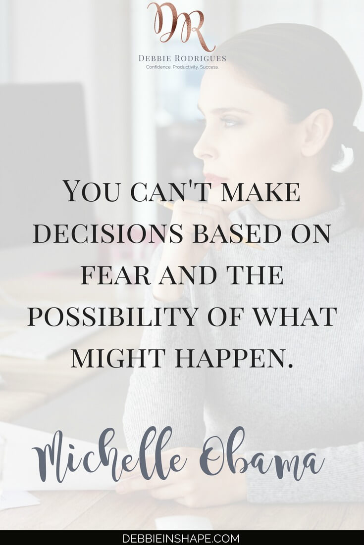 Don't let fear get in the way of your productivity. Discover the 5 right questions you must ask yourself to overcome indecision and how you can do it without feeling overwhelmed. Start improving your efficiency today, one day at a time with the 52-Week Challenge For A More Productive You. #productivity #confidence #success #journaling #mentalhealth #quote