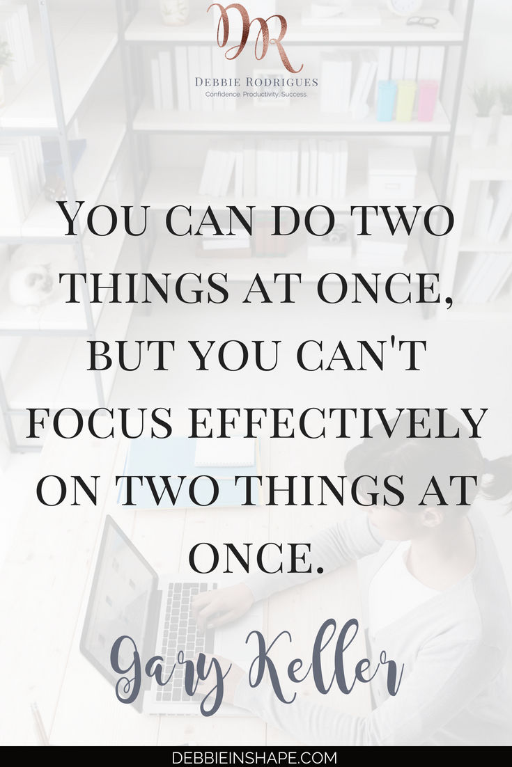 How to start focusing on one thing at a time to improve your efficiency. Discover the 5 dangers of multitasking and understand why you have to quit it if you want to become more productive. Join the 52-Week Challenge For A More Productive You for motivation, accountability and support. #productivity #confidence #success #quote