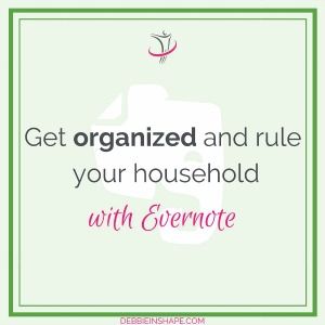 Get organized with Evernote using these three tips for household tasks. Let me show you how to get started.