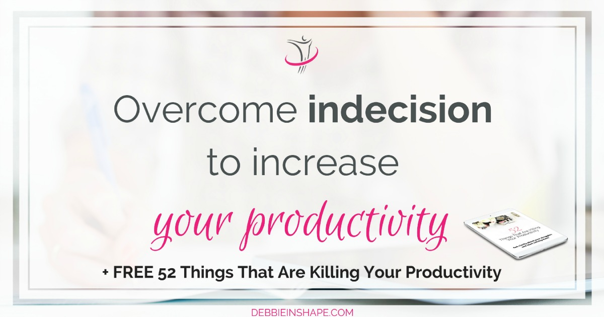 You need to decide where you're going to so that you can accomplish your goals. Learn why you must overcome indecision today on the blog.