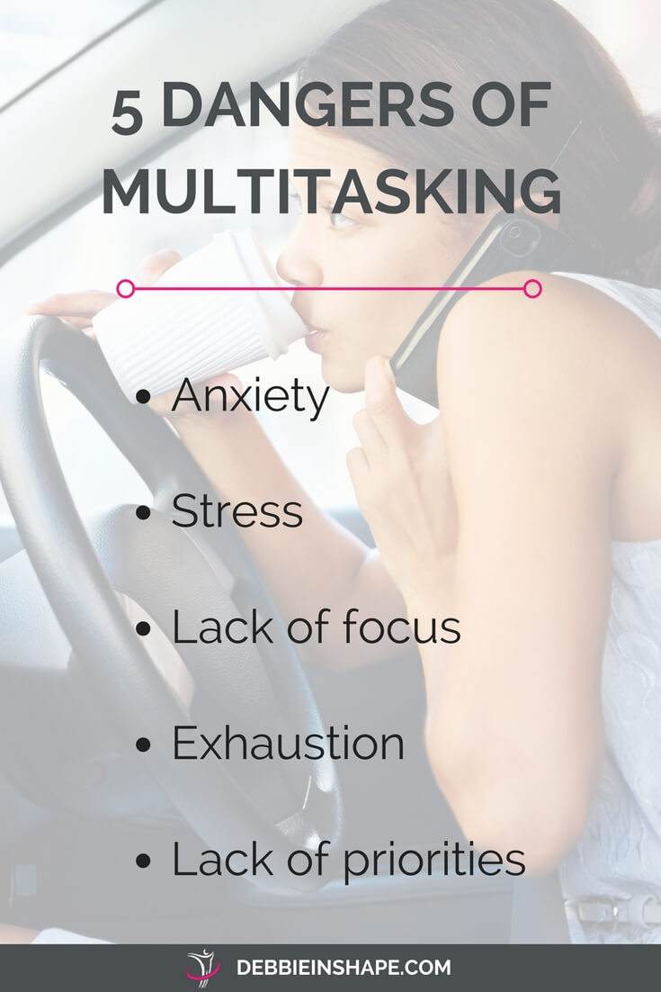 The 5 dangers of multitasking and how to ditch it. Understand why dividing your attention is killing your productivity. Read all about it and join the 52-Week Challenge For A More Productive You on the blog today.