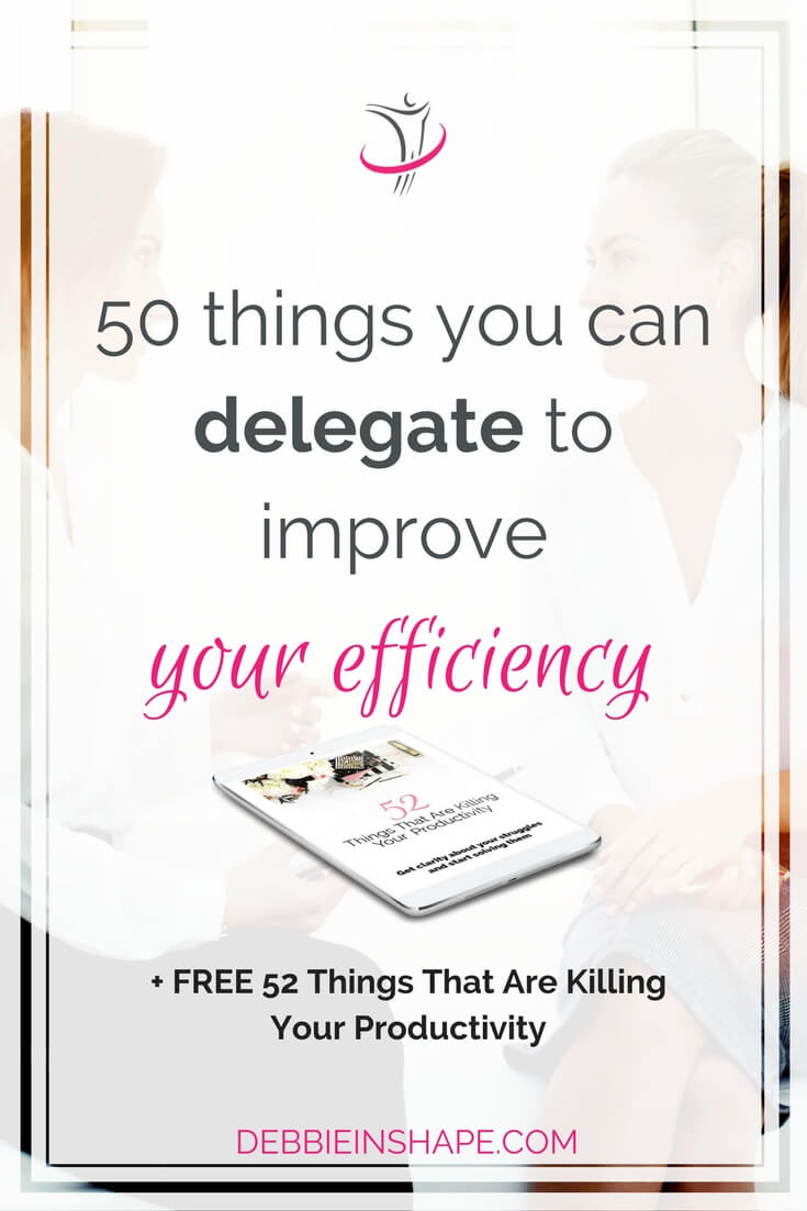 You're probably doing too much and you know it. Discover what you can delegate to improve your efficiency and get rid of the overwhelm today. And if you need extra support to stay on track with your efforts, come and join us on the 52-Week Challenge For A More Productive You. Read more on the blog.