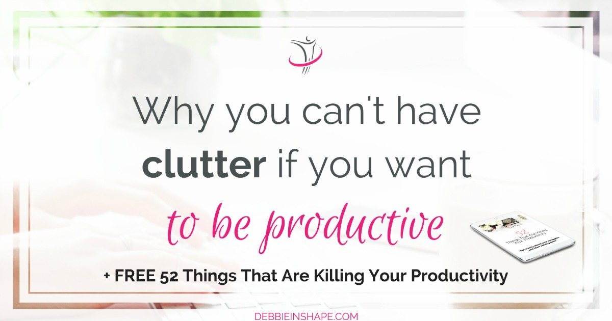 Do you struggle with clutter and productivity? I got some tips to help you get rid of excesses once and for all. Even if you struggle, like me, with sentimental items, there's still an easy way to handle them. Read all about it on the blog and join the 52-Week Challenge For A More Productive You today for accountability and support.