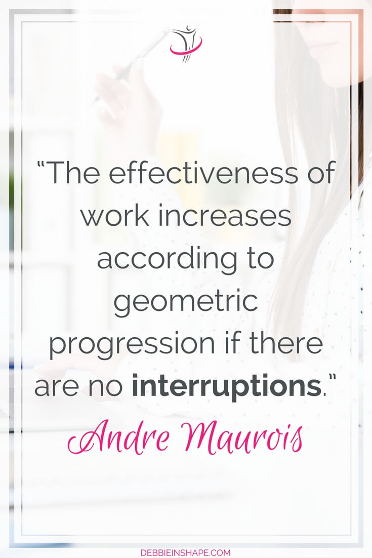 How to get more done by avoiding interruptions the professional way. Because those innocent breaks are stealing more of your time than you realize it. To understand how it works and the ways you can prevent it, read the blog post today. Make sure you also join the 52-Week Challenge For A More Productive You for support and accountability all year long.