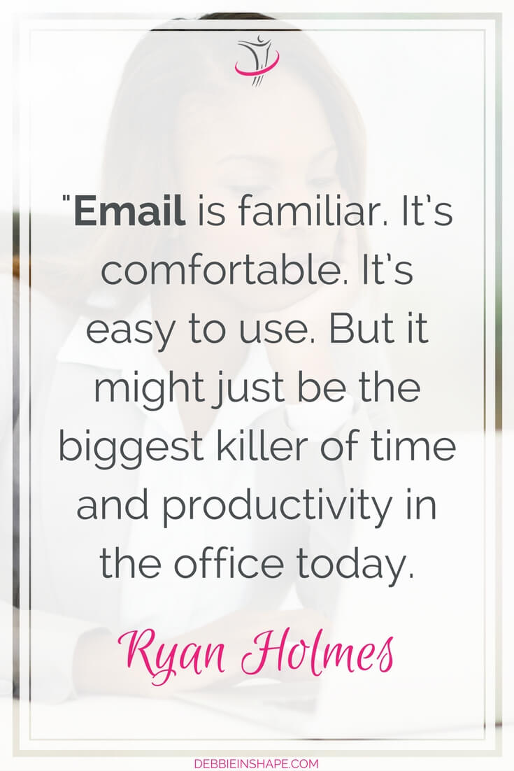 Why you need to improve your email productivity to be more successful. It isn't because you can send an email that you should do. Change your approach to efficiency and get more done the easy way. Learn how I do it on the blog and download my FREE checklist Inbox Zero For Perfectionists today.