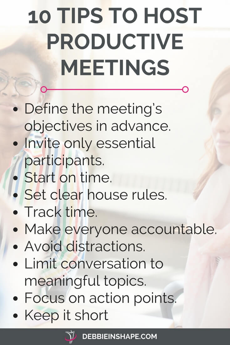 How to host productive meetings to get more done. Because meetings can be a great way to boost your efficiency. How to organize and host them is what makes difference. Want to know more? Check the blog and join my FREE VIP Tribe for exclusive content, support, and motivation. #productivity #confidence #success