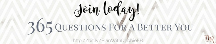 Boost your confidence with the right support system. Join my Facebook Group #PlanWithDebbie today for accountability. Share your answers from the 365 Questions For A Better You with other like-minded achievers for daily inspiration and motivation. #productivity #confidence #success #personaldevelopment #journaling #prompts #365questionsforabetteryou