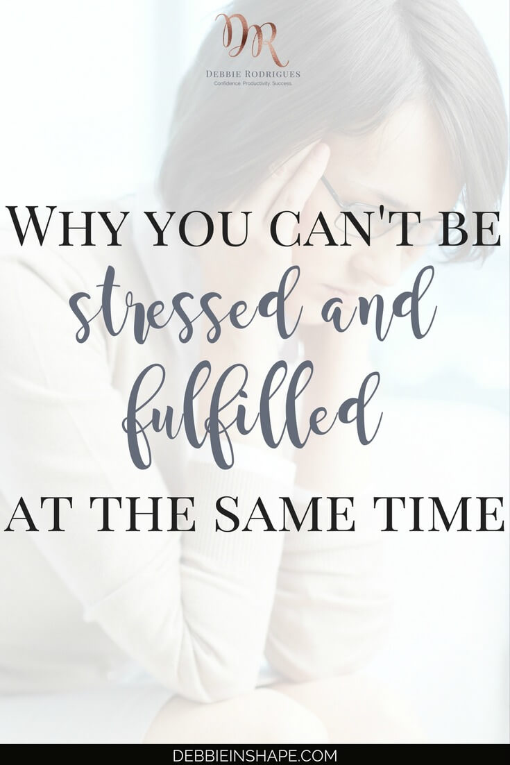 You can't be stressed and fulfilled at the same time. Learn how to manage the pressure to accomplish more every day. Join the new and revised 52-Week Challenge For A More Productive You for accountability, support, and motivation. Discover the benefits of a realistic approach to creating space in your schedule for the things that really matter. #productivity #confidence #success #stressmanagement #health #wellness