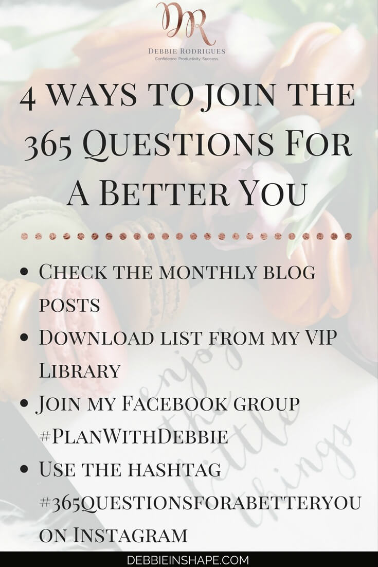 Discover the best way for you to join 365 Questions For A Better You. Use the prompts to become a better version of yourself one day a time for confidence, productivity, and success. Feel free to join me for accountability and motivation. #productivity #confidence #success #personaldevelopment #journaling #prompts #365questionsforabetteryou