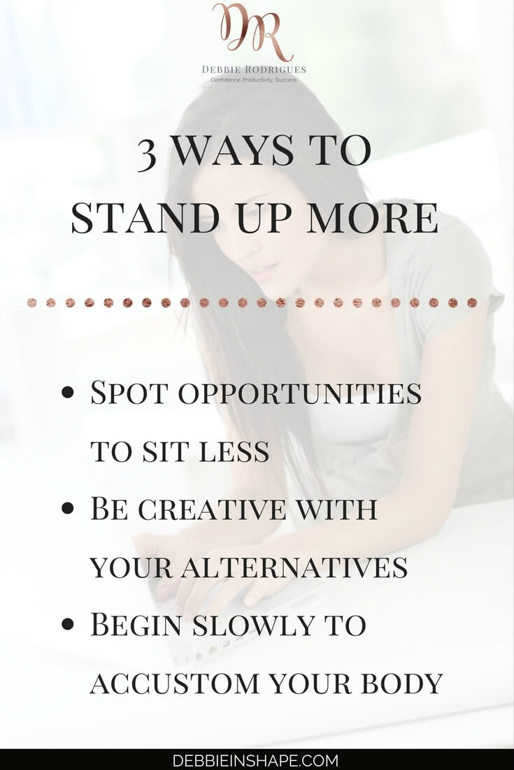 Standing up more made simple and affordable. Ditching the chair is a good habit that needs to be part of your routine. Discover how you can implement it without breaking your budget one day at a time. Need some extra motivation and accountability? Then, come on over to the 52-Week Challenge For A More Productive You. Access exclusive content as well as coaching to help you regain control of your schedule and life. #productivity #confidence #success #health #lifestyle