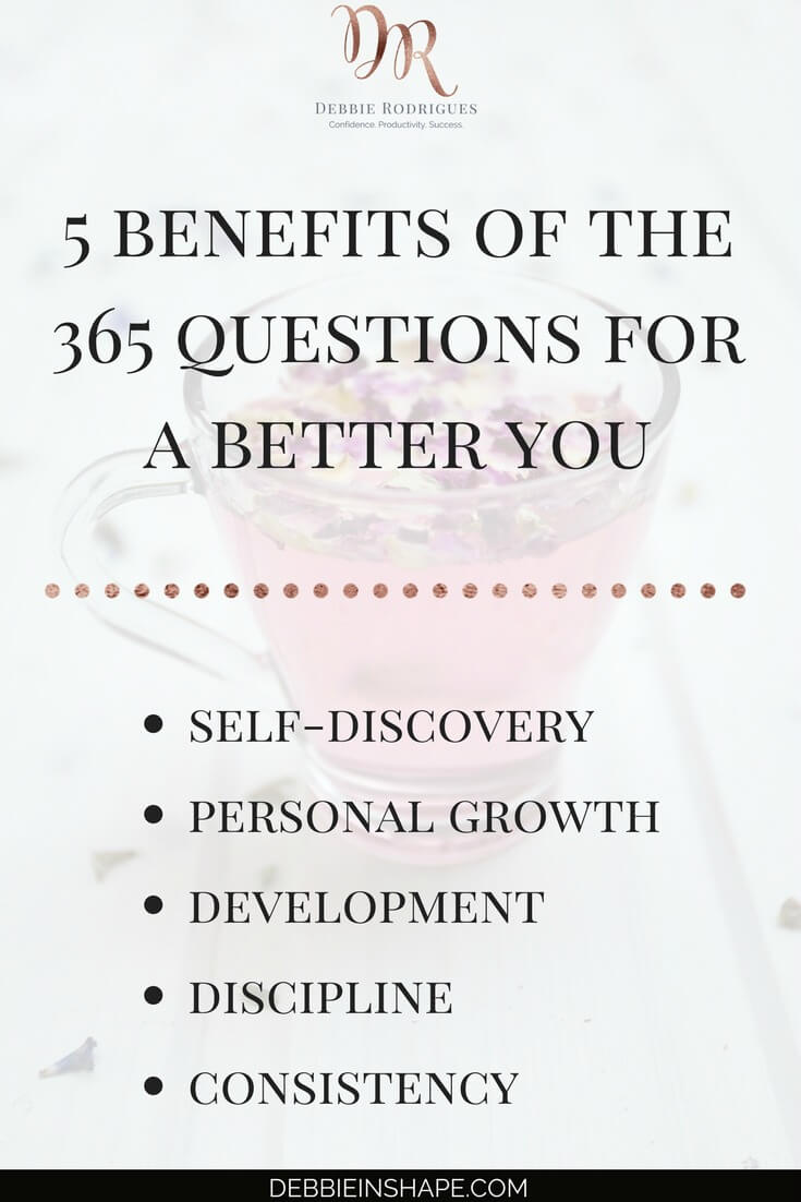 Find out why you need to join the 365 Questions For A Better You today. Discover how you can become a better version of yourself, one day at a time, with journaling. Join my FREE VIP Tribe to download the monthly list and access exclusive content to help you create space in your schedule for the things you love. #productivity #confidence #success #personaldevelopment #journaling #prompts #365questionsforabetteryou