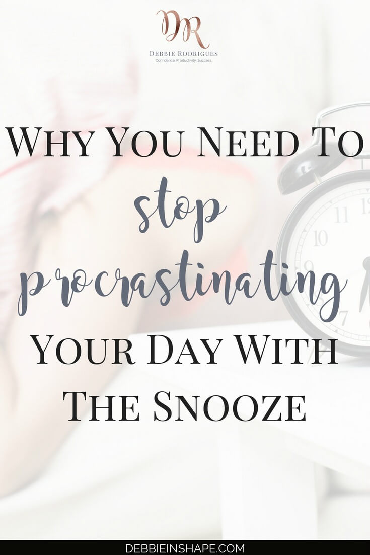 Have you noticed that you've been procrastinating your day with the snooze? Find out how you can get rid of this habit to develop a successful routine. To stay on track with your goals, join the 52-Week Challenge For A More Productive You today. Access all the tools and support you need to create space in your schedule for the things you love. #productivity #confidence #success #health #lifestyle