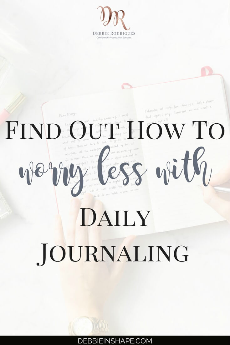 Everyone should learn how to worry less with daily journaling. Discover how simple it is and its benefits for mental health and success. Join the 52-Week Challenge For A More Productive You and get all the support you need to become a better version of yourself. #productivity #confidence #success #journaling #mentalhealth