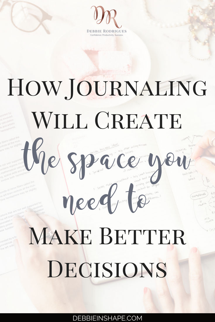 Discover what I did to create space to make better decisions with journaling when I reached a crossroads in my life. Join the 52-Week Challenge For A More Productive You and learn how to stop procrastinating and get more done one day at a time. #productivity #confidence #success #journaling #mentalhealth