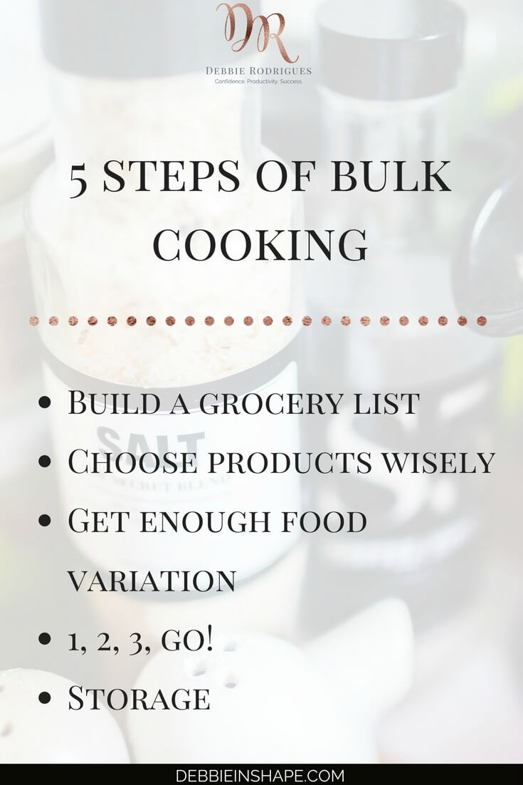 How to cook for a week in just one day. How to make better use of your time in the kitchen. If a can't-cook like me can, imagine how you can benefit from it? Join the 52-Week Challenge For A More Productive You today for motivation, support, and accountability on your Journey to a meaningful and fulfilling lifestyle without stress. #productivity #confidence #success #weightloss #mealplanning