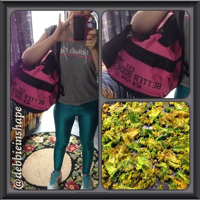 Gym Bag Better Bodies Pink Labellamafia Nathalia Melo Pink Green Gray Kale Chips Debbie in Shape