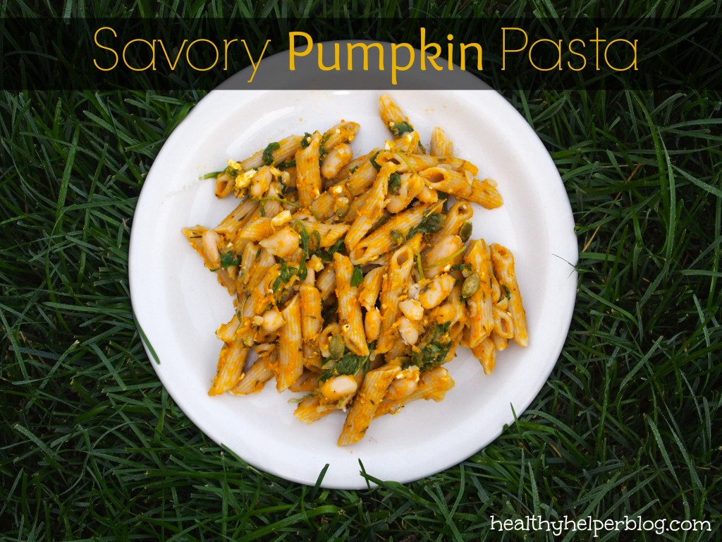 Savory Pumpkin Pasta via @healthy_helper #reciperedux #nutfree #vegetarian