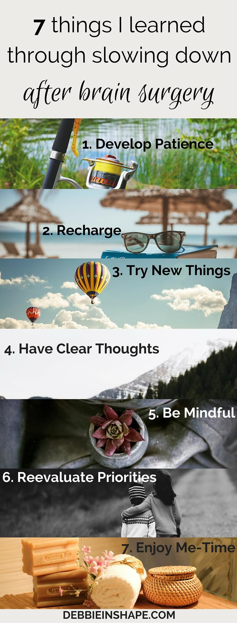 Don't wait until something bad happens to you. Fall in love with life again with these 7 tips. Come to the 52-Week Challenge For A More Productive You and get all the support you need to boost your confidence and success. #productivity #confidence #success #journaling #braintumor