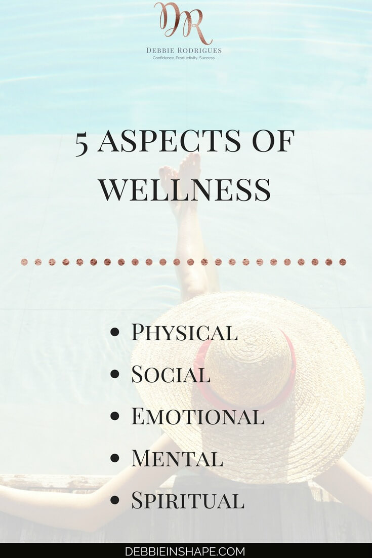 Learn the importance of the 5 aspects of wellness. Discover how you can improve your lifestyle and develop a fulfilling routine without stress at the 52-Week Challenge For A More Productive You. You deserve it! #productivity #confidence #success #journaling #wellness