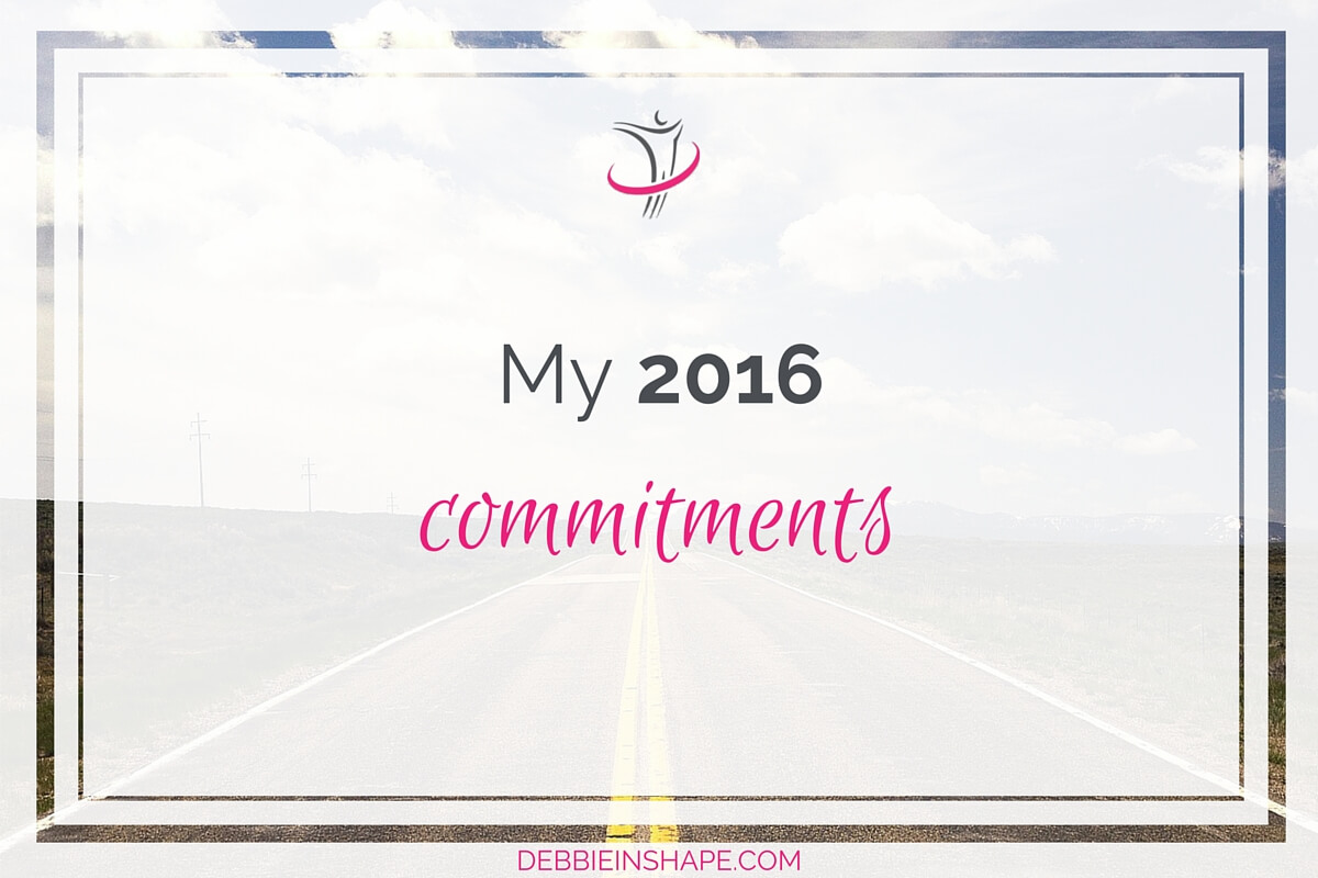 My 2016 Commitments